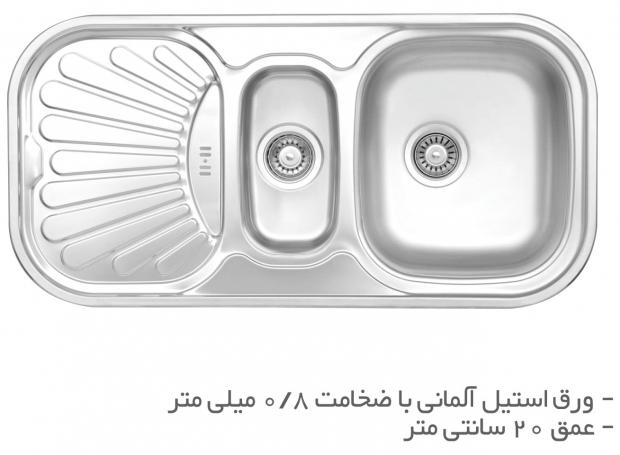 سینک ظرفشویی توکار TS212R و TS212L