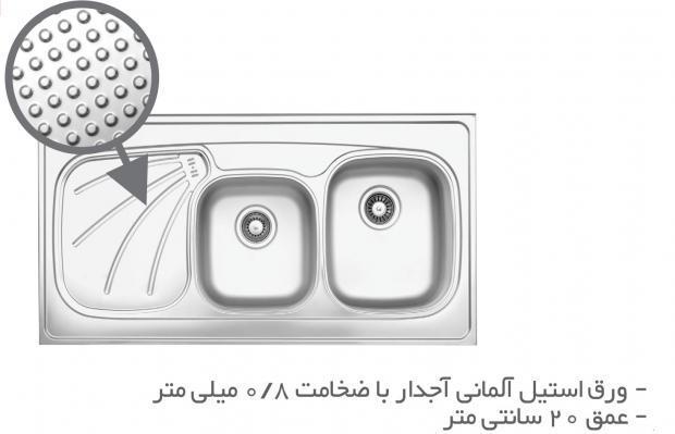 سینک ظرفشویی روکار TS201R-O-H و  TS201L-O-H