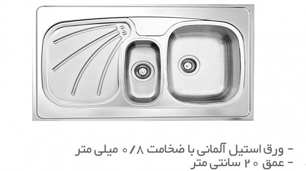 سینک ظرفشویی روکار TS211R-O و  TS211L-O
