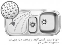 سینک ظرفشویی توکار TS211R-H و TS211L-H