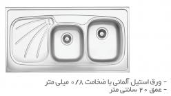 سینک ظرفشویی روکار TS201R-O و  TS201L-O