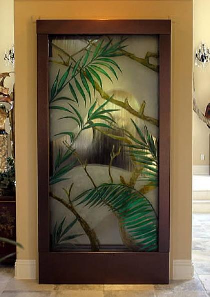 آب نمای شیشه ای با طرح درخت