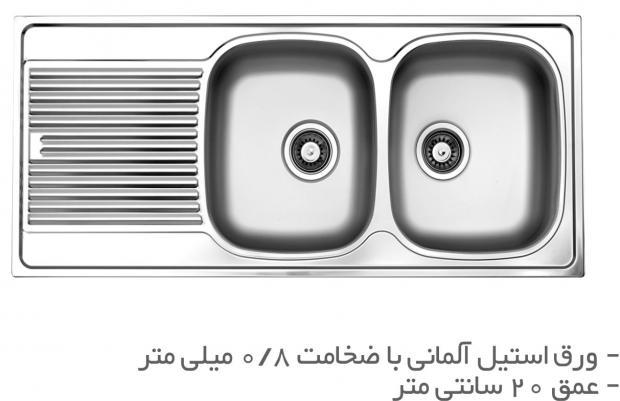 سینک ظرفشویی توکار   TS204R و TS204L