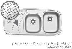 سینک ظرفشویی توکار  TS201R-H و TS201L-H